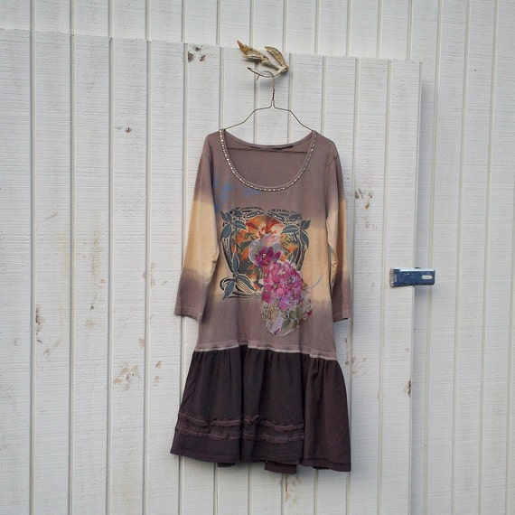RESERVED Eco Dress / Jersey Knit / Funky Upcycled Clothing