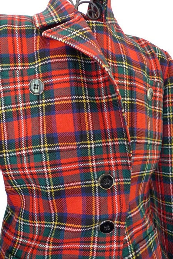 ON HOLD/SOLD Yves Saint Laurent tartan jacket