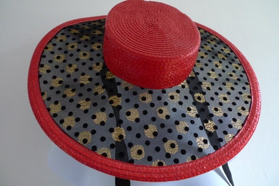 Vintage Yves Saint Laurent sombrero hat