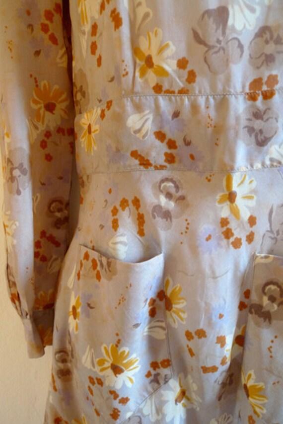 RESERVED Vintage 70s Cacharel flower print summer dress