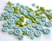 Clay Flowers for Scrap-booking or Nails Art, 200 pieces, 15.0 USD now only 9.5 USD