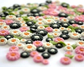 Clay Flowers for Scrap-booking or Nails Art 50 pieces