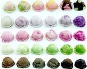 Miniature Polymer Clay Supplies for Beaded Jewelry And Dollhouse Ice Cream Scoop 30 pcs