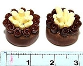 Miniature Food Polymer Clay Beads for Beaded Jewelry 2 pcs