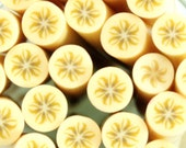 Polymer Clay Cane for Nail Arts, Beads Jewelry and Scrapbooking Miniature Banana 2 canes