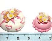 Miniature Foods Polymer Clay Supplies for Beads Jewelry 2 pcs