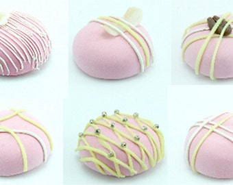 Polymer Clay Beads for Miniature Food & Beaded Jewelry Supplies 6 pcs