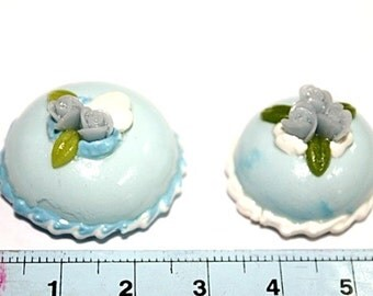 Miniature Polymer Clay Foods Supplies for Dollhouse and Beads Jewelry 2 pcs