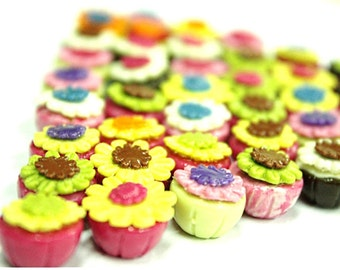 Miniature Foods Polymer Clay Supplies for Beaded Jewelry Fancy Cupcakes 10 pcs