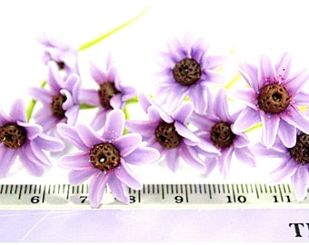 Violet and Purple Handcrafted Chrysanthemum, set of 10 pcs