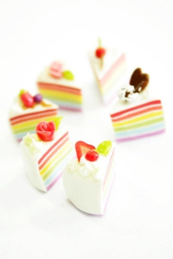 Romantic Rainbow Mini cake, set of 6 pieces