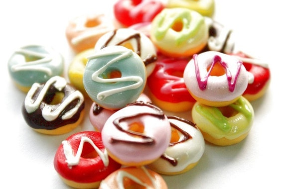 Miniature Polymer Clay Foods Supplies for Beaded Jewelry and Dollhouse 10 pcs