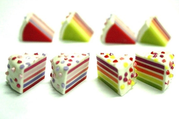 Miniature Polymer Clay Supplies for Dollhouse and Foods Jewelry 8 pcs