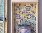 Upcycled cd shelf in Denim Blue - Shabby Chic, Boho Decor