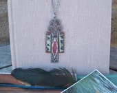 Southwestern Necklace - Handpainted, One-of-a-kind