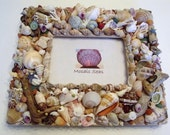 Large Seashell and Driftwood Large Mosaic Frame, Masculine, Father's Day