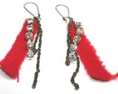 Eco-bling recycled earrings FREE SHIPPING