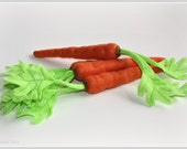 Felt Play Food Carrot 1 Eco Friendly Toy Felt Food Vegetable