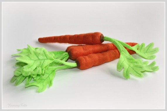 Felt Play Food Carrot 1 Eco Friendly Toy Felt Food Vegetable