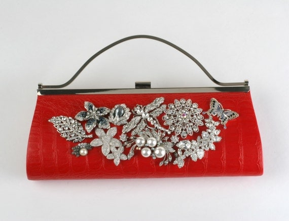 Red Lipstick Promise, Jeweled Purse