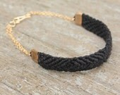 Blackberry season macrame bracelet