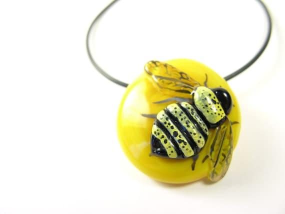 MZ Glass Bee Pendant