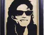 Michael Jackson Handcrafted Wooden Portrait