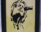 Keith Urban Handcrafted Wooden Portrait