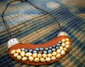 Pearl Quilt Bib Necklace