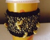 Cup Cozy . Hand knit. Ready to ship.