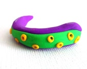 Tentacle Curl Novelty Eraser - Purple and green- small