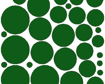 34 Forest Green Polka Dot Sticker Removable Polka Dot Wall Decals