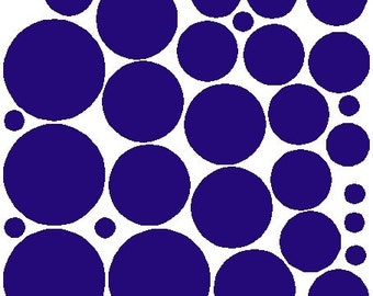 34 Royal Blue Polka Dots Decals Removable Wall Stickers
