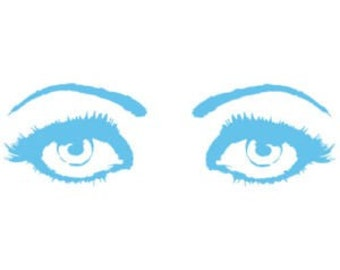 Eyes Decal Removable Eyes Wall Sticker