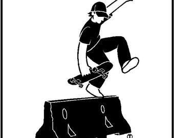 Skateboard Decal Removable Skateboard Wall Sticker