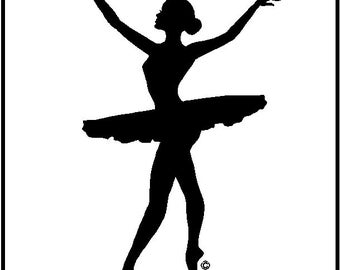 Ballerina Wall Decal Removable Wall Ballet Stickers Graphics Item Number 4