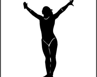 Gymnastics Wall Decal Removable Gymnast Wall Sticker Design #2