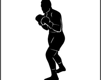 Boxer Wall Decal Removable Boxing Wall Sticker