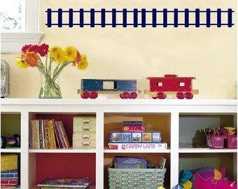 Straight Train Tracks Wall Decals Removable Train Track Wall Stickers