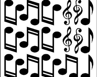 Peel And Stick Music Notes Stickers Decals Removable Wall Art