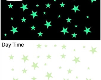 29 Glow in the Dark Stars Peel And Stick Stickers Decals Removable Wall Art