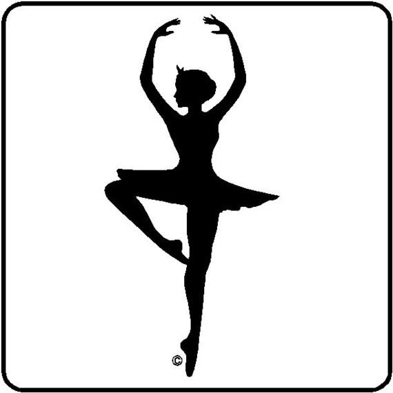 Ballerina Wall Decal Removable Ballet Wall Sticker Item #3