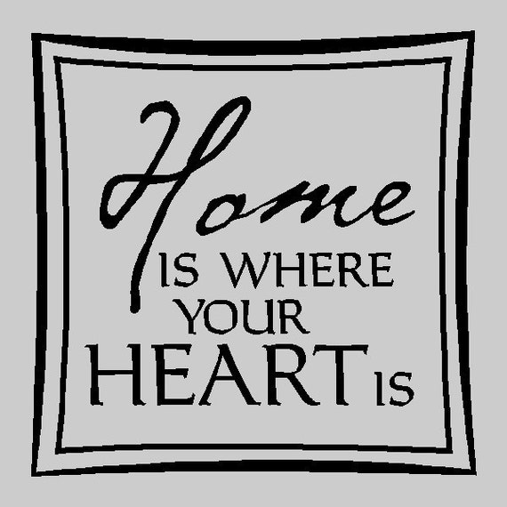 Home is where your heart is... Family Wall Quotes Words Sayings Removable Home Wall Decal Lettering HOO6