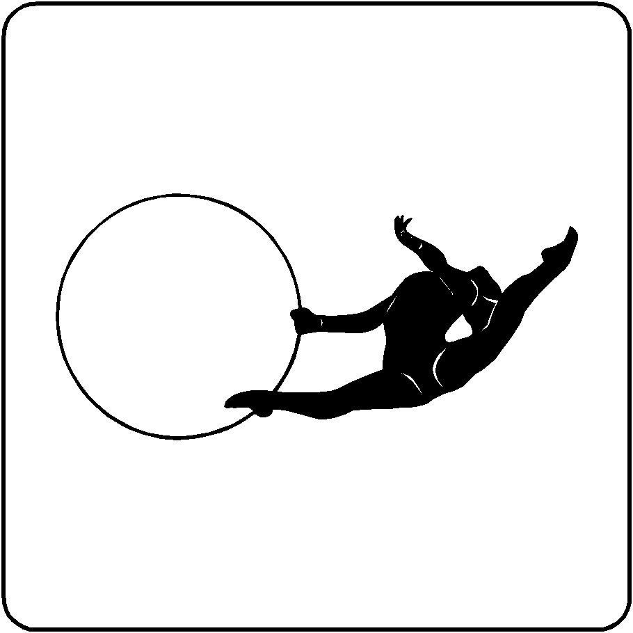 Rhythmic gymnastics wall decal removable gymnast wall sticker zoom amipublicfo Image collections
