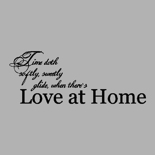 love at home family wall quotes words sayings removable