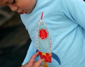 Boys Rocket Applique Tshirt
