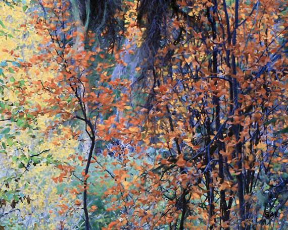 Fall Foliage Painting Impressionist Autumn By Paulnsherylart