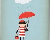 Rainy Day Chic - Customizable 8x10 Archival Art Print