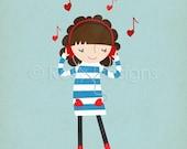 Love Songs - Girl - Customizable 8x10 Archival Art Print