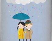 Rainy Day Love 2 - Customizable 8x10 Archival Art Print